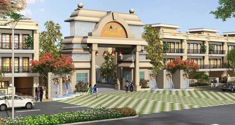 Gaur Krishn Vilas Plots  site plan